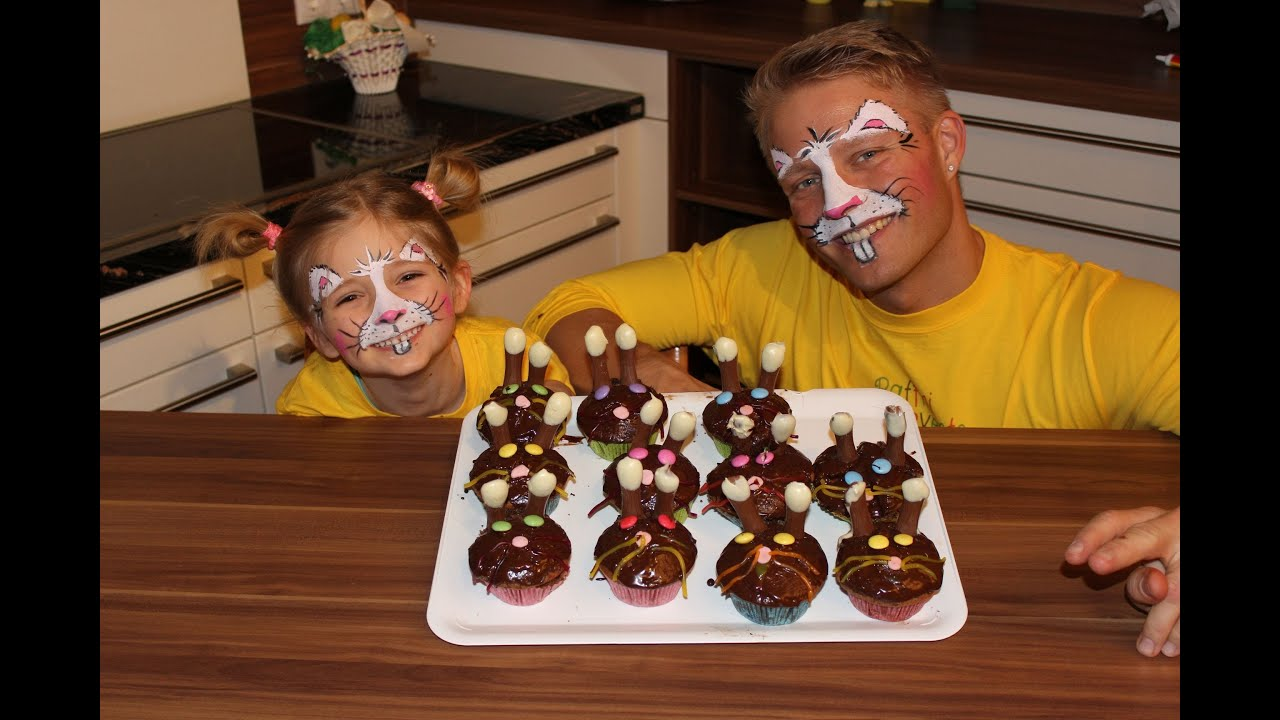 osterhasen muffins backen mit kindern youtube. Black Bedroom Furniture Sets. Home Design Ideas