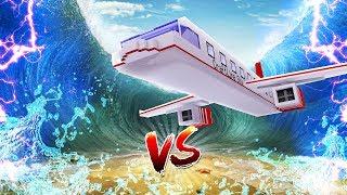 Minecraft - TSUNAMI VS AIRPLANE BASE CHALLENGE!