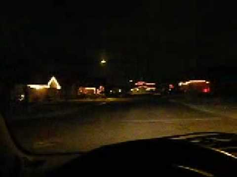 christmas lights and police scanner and ham radio