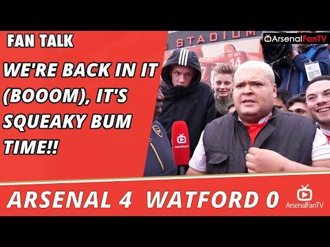 We're Back In It (BOOOM), It's Squeaky Bum Time!! | Arsenal 4 Watford 0