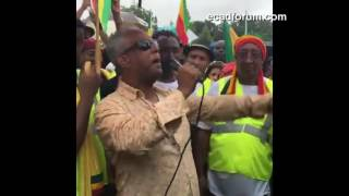 Tamagne Beyene's powerful speech at the historical Washington DC protest Sep. 19, 2016