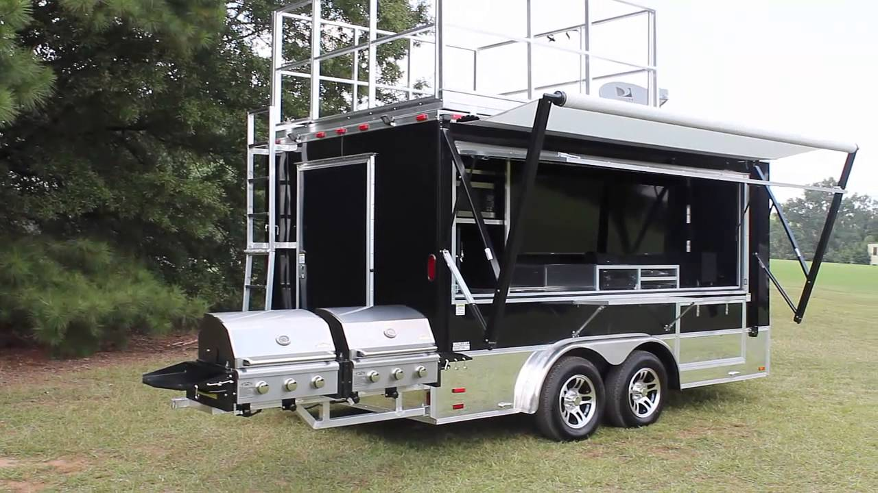 Electric Awning - Ready-2-Roll-Trailers.com - YouTube