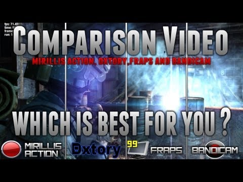 Dxtory vs Action vs Fraps vs Bandicam - Side by side Quality - File Size and Performance