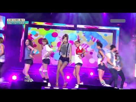 [hd]110730 Hyuna(4minute)-bubble Pop Live video