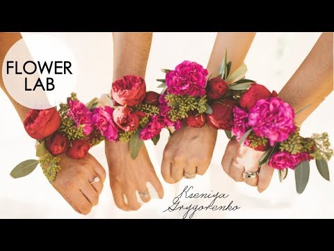 How to Make PINK Wrist Corsage for Wedding! Easy Wedding Diy Ideas | How to Make a Wedding Bracelet