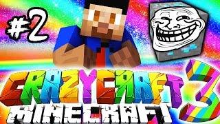 Minecraft Mods: CRAZY CRAFT #2 'TROLL BLOCKS!' with Vikkstar (Crazy Craft 3.0 SMP)