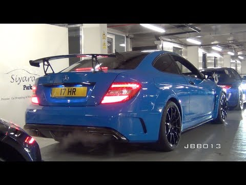 Loud Supercars in Close Parking Garage - IPE C63 Black, Miltek RS3, 458, GT3 RS
