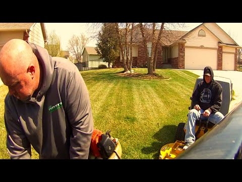 Mowing 2 New Lawn Care Customers, Progression Landscape Business