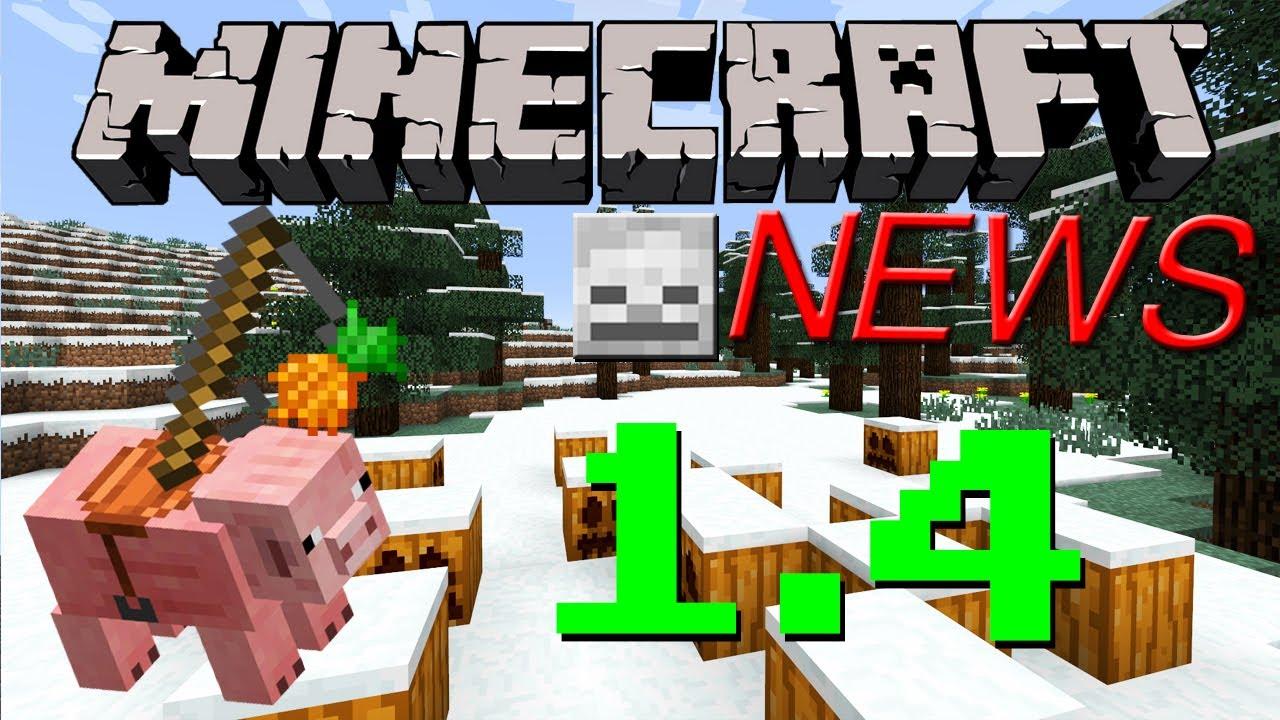 minecraft news 1 4 release date pig mounts skulls more youtube. Black Bedroom Furniture Sets. Home Design Ideas