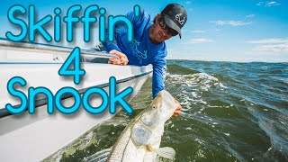 Snook Fishing Action from the Skiff - Sebastian Inlet