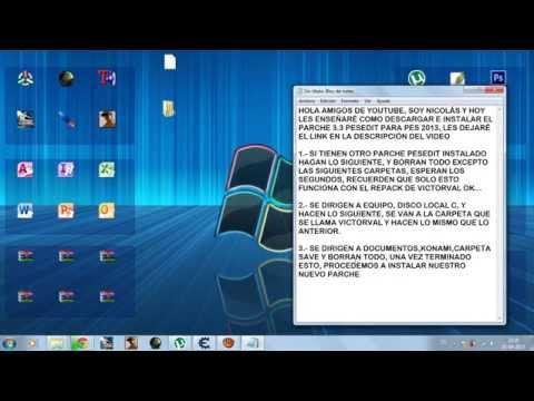 TUTORIAL: Como descargar e instalar PESEDIT 3.7 (actualizado) para Pes 2013 repack victorval
