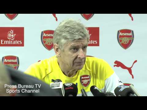 Arsene Wenger pre Manchester United vs Arsenal FA Cup