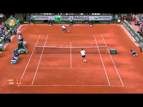 Roland Garros 2014 Monday Highlights Monfils Garcia Lopez