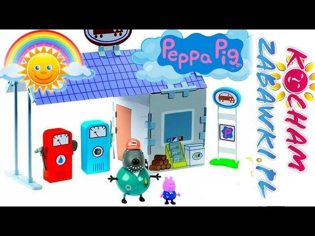 Świnka Peppa • Stacja Paliw • Brudne autko Dziadka Świnki • bajki po polsku