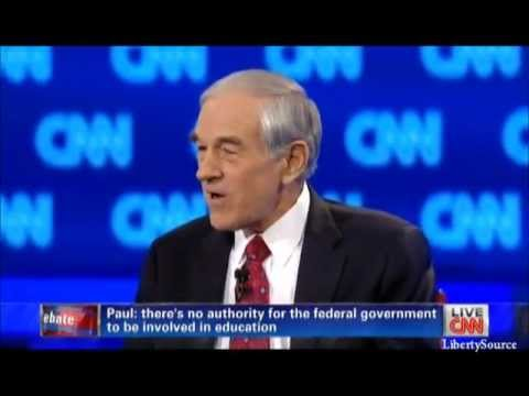 Ron Paul on The Department of Education CNN Debate 2/22/12