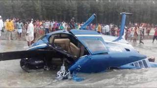 Helicopter crashes after dropping off Shakib