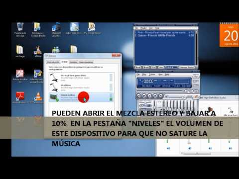 Estéreo Mix con Micrófono Externo en placa sonido Realtek High Definition en Win Seven