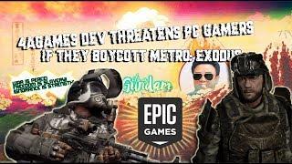 Metro Exodus Dev threatens PC gamers if they Boycott