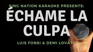 Download Lagu Luis Fonsi Ft. Demi Lovato - Échame La Culpa KARAOKE Gratis STAFABAND