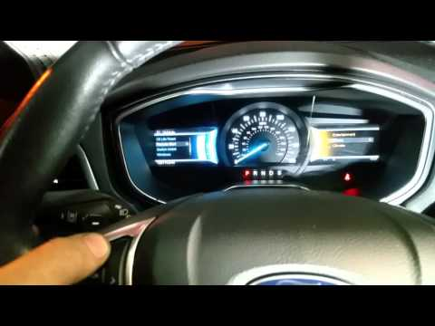 2013 2014 2015 2016 Ford Fusion Oil Change Required Reset ...