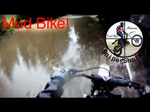 Husqvarna 500cc Dirt Bike in Mud/Trails