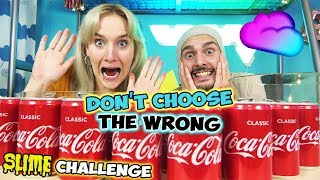 Don't Choose THE WRONG COLA SLIME CHALLENGE Kaan VS Nina - Wer macht den besten DIY SCHLEIM?