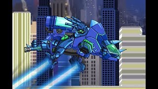 Combine Dino Robot Deluxe Tricera Blue (Роботы Динозавры: собирать Трицератопса) - прохождение игры
