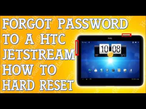 Forgot Password HTC Jetstream Tablet How To Hard Reset