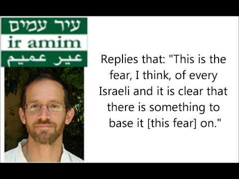 Aviv Tatarsky Researcher  Ir Amim   Fear Bleeding Palestinian  Capital if Jerusalem Capital of 2 Sta