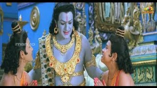 Sri Rama Rajyam - Sri Rama Rajyam movie scenes - Lava Kusa finding truth about Seeta - Bala Krishna, Nayantara