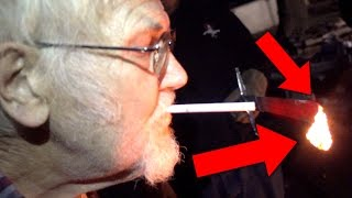 1000 DEGREE SWORD VS ANGRY GRANDPA!