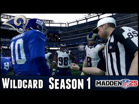 Madden 25 Rams Connected Franchise - Wildcard Playoffs @ NY Giants - Season 1