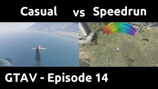 Casual VS Speedrun in GTAV #14 - Tactical Jumping