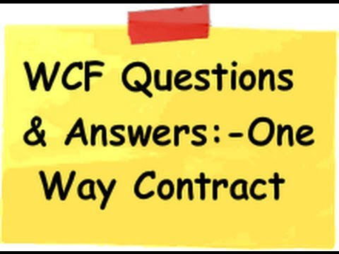 What is WCF One way contract ?