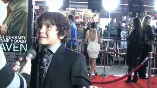 YAH interview with actor Noah Lomax at Safe Haven premiere in Los Angeles February 5, 2013