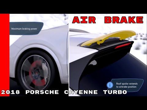 2018 Porsche Cayenne Turbo Air Brake & Aerodynamics