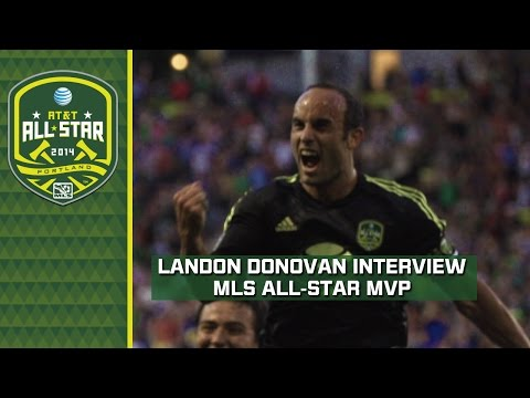 Landon Donovan reacts to All-Star game winning goal vs Bayern Munich