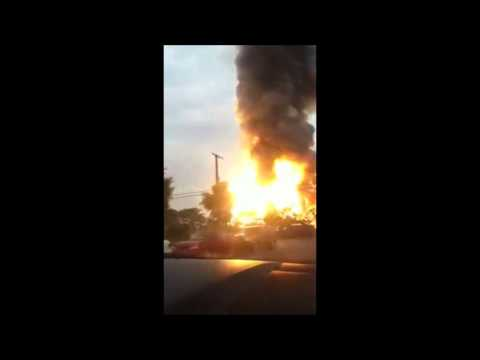 Rosedale, MD Train Explosion 5/28/2013 (Warning Video Contains Graphic Language)