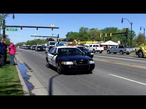 Funeral procession for fallen Westland, MI firefighter Brian Woehlke