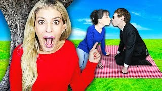 Spying on BEST FRIEND FIRST DATE with Her CRUSH! (Kissing to get Event Secret) | Rebecca Zamolo
