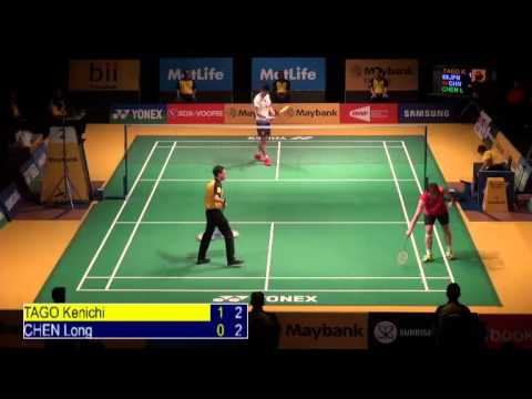 Qf - Ms - Tago Kenichi Vs Chen Long - 2014 Malaysia Badminton Open video