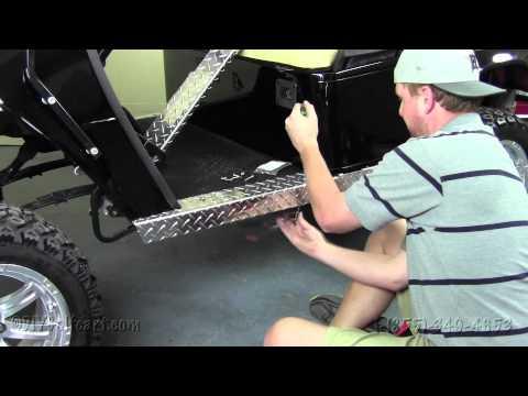 EZGO Diamond Plate Rocker Panels   How To Install Video   Installing a Rocker Panel