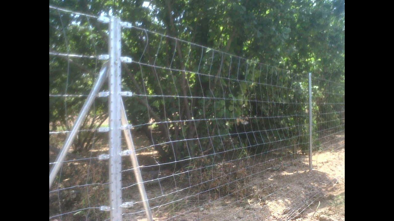 Como se monta cercado cineg tico de malla anudada rural o for Vallado de madera jardin leroy merlin
