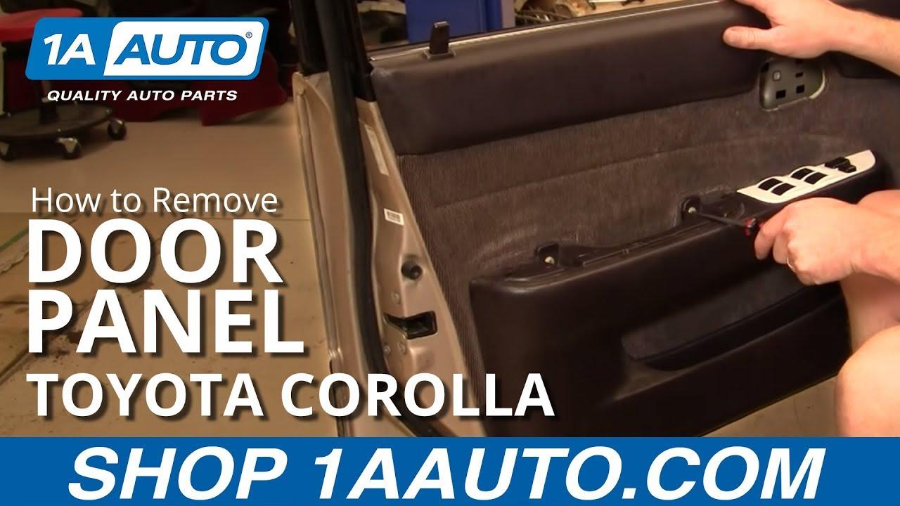 Corolla Door Panel Removal Door Panel Toyota Corolla