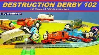 Thomas & Friends Destruction Derby #102 - Trackmaster and Plarail toy trains for kids competition
