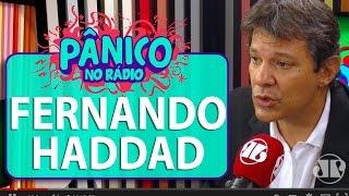 Carioca discute com Fernando Haddad, prefeito de São Paulo, durante o programa | Pânico