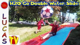Epic Fail 🌊 Summer Fun Double Water Slide! Review of H2O Go With Speed Ramp like Slip n Slide