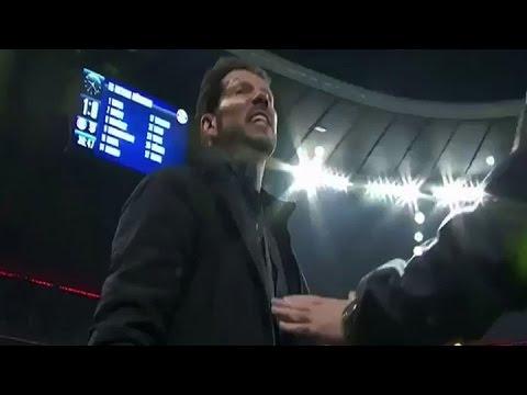 Simeone enloquecido en el duelo contra el Bayern Munich