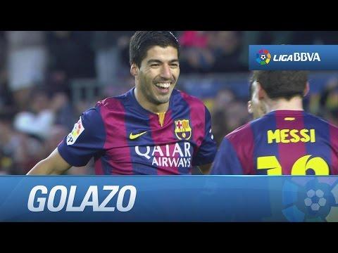 Golazo de tijera de Luis Suárez (5-0) en el FC Barcelona - Levante UD
