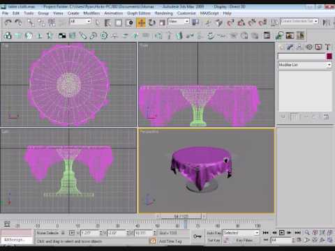 Table Clothing Design Tutorial Table Cloth Tutorial DS MAX